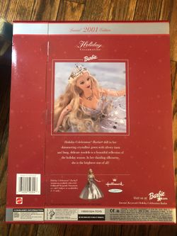 Barbie especial edition 2001 holiday celebration Thumbnail