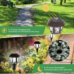 Solar Lights Outdoor Decorative,10 Packs Solar Pathway Lights,Powered Landscape Lighting,Waterproof Solar Powered Garden Yard Lights for Walkway Sidew Thumbnail