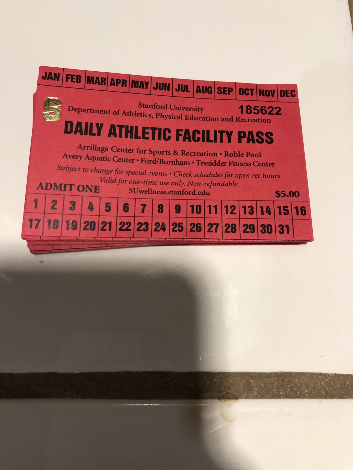 Guest Passes For Stanford Pools
