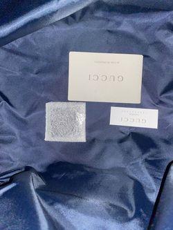 Gucci Unisex Blue Nylon Diamante Travel Tote Handbag {contact info removed} Thumbnail