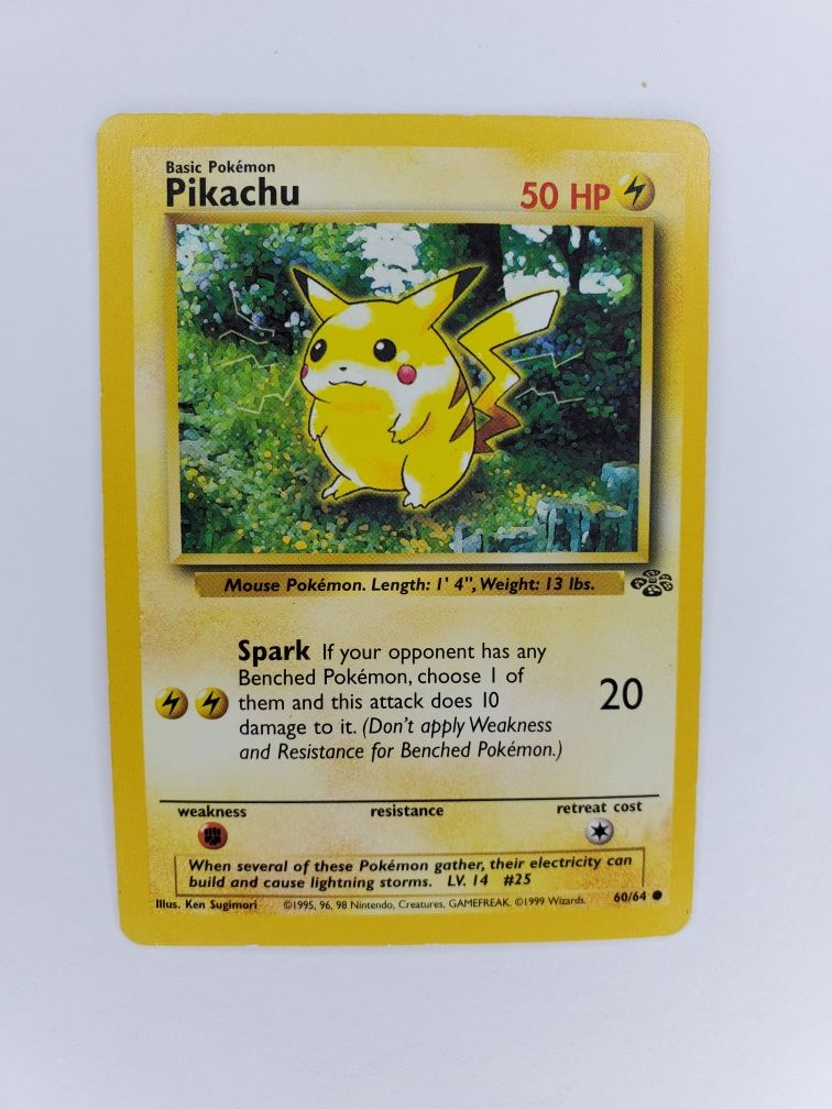 Pikachu 90s pokemon card