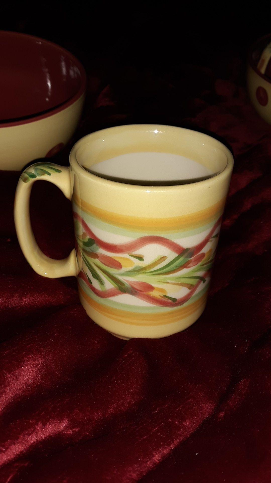 Coffee and bowl set