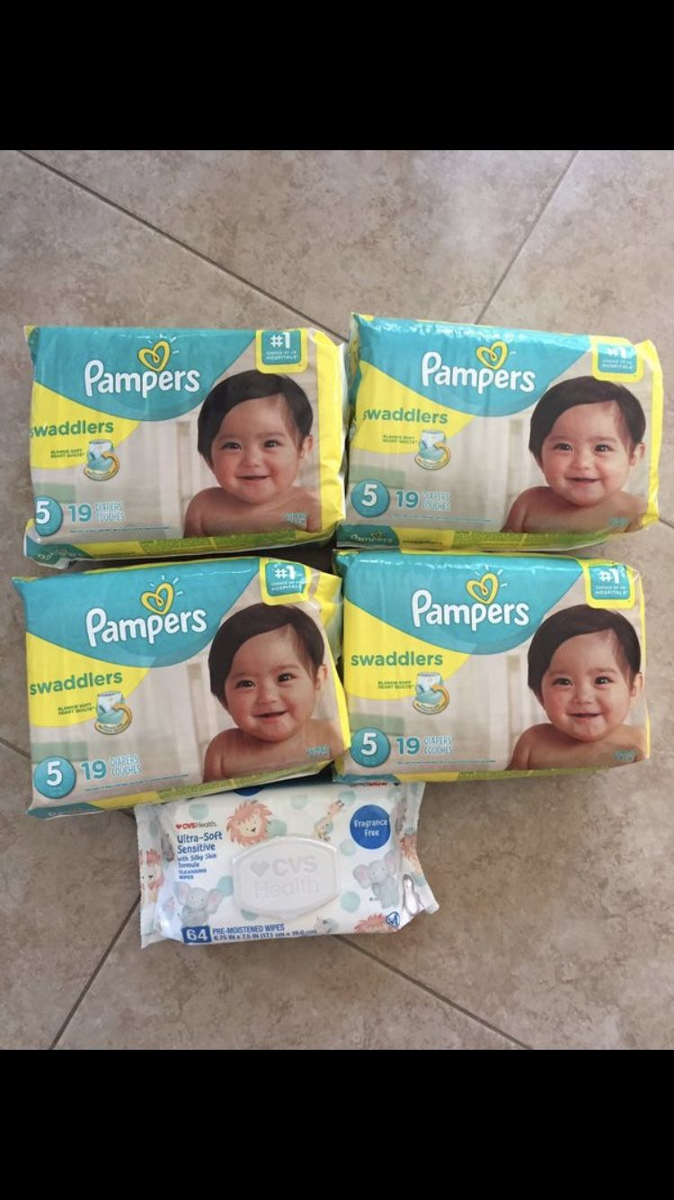 Pampers and wipes! $30
