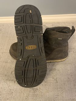 KEEN Utility San Jose Waterproof Aluminum Toe Work Boots For Men - Cascade Brown/Black - 14M Thumbnail