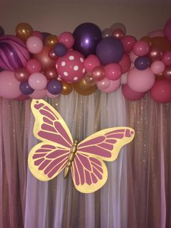 Paper Butterfly Birthday Party Decoration Thumbnail