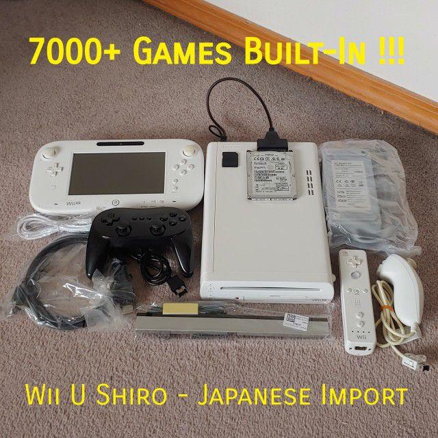Modded Nintendo Wii U Bundle with 7000+ Games