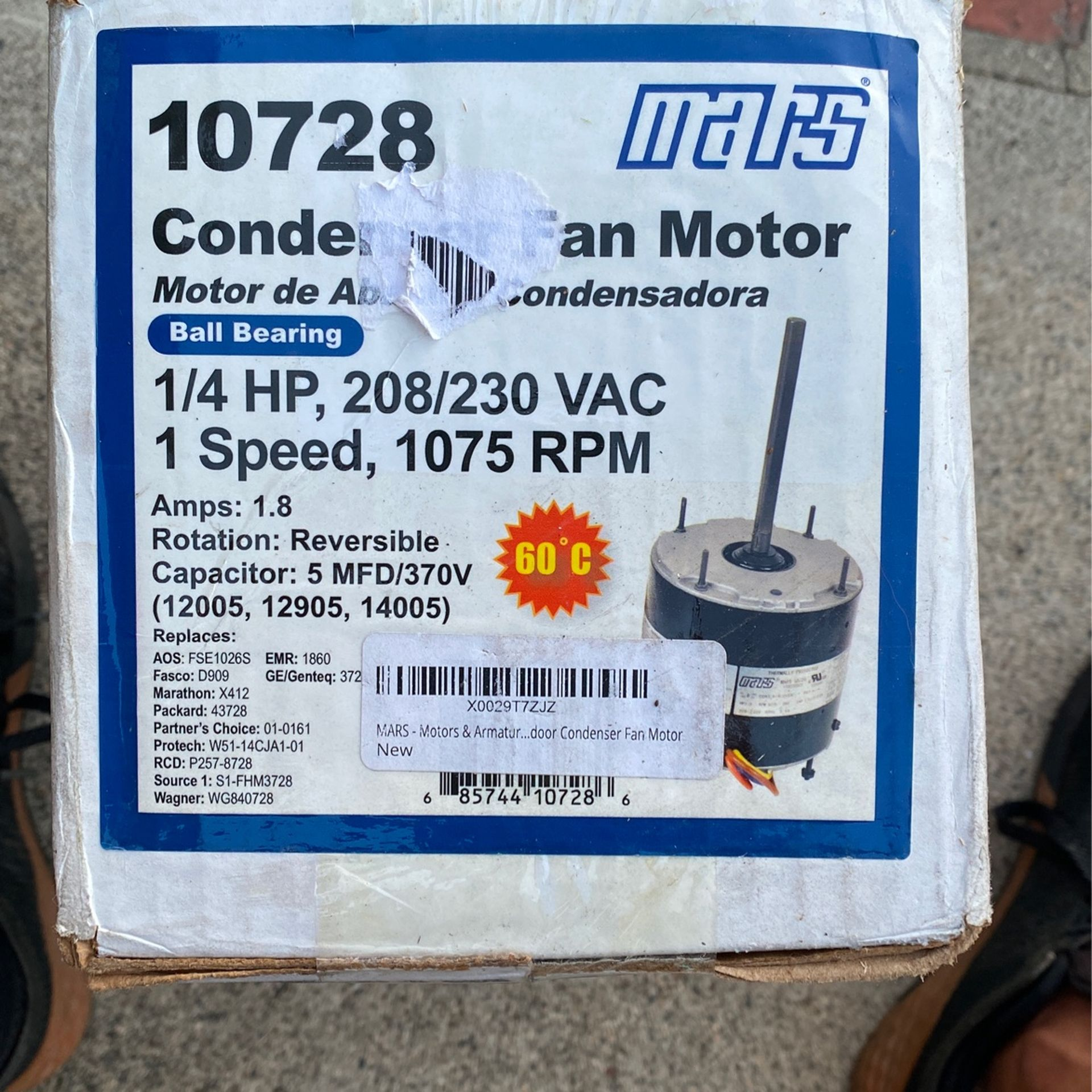 Mars AC Fan Motor