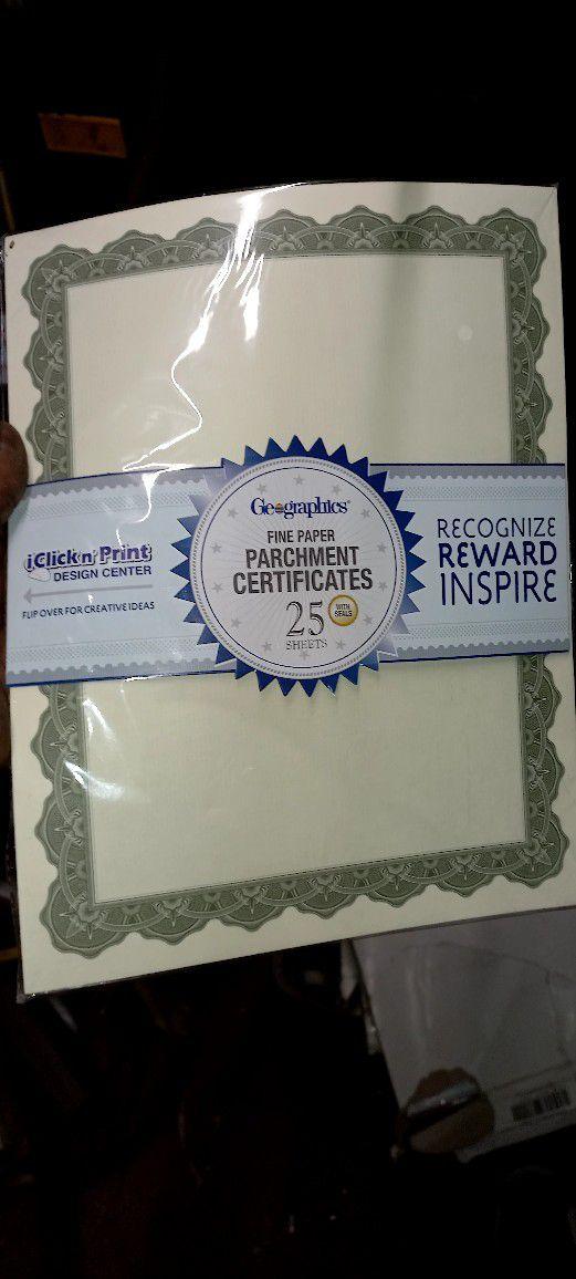 Parchment Certificates