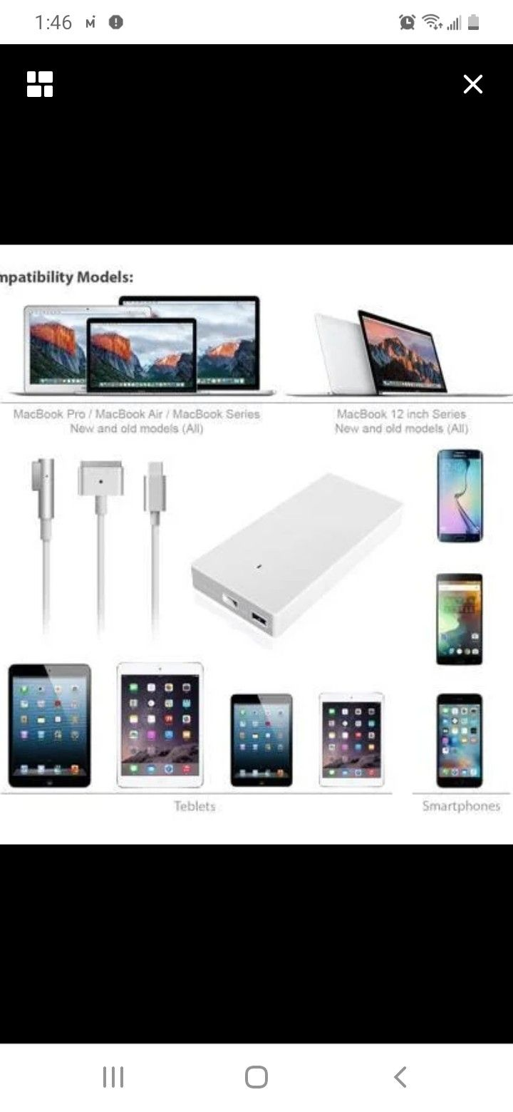 Abyone Slim 85W Power Adapter Charger with USB for Apple MacBook Pro MacBook Air Magsafe2 or MagsafeL 85W 60W 45W Power Ac Adapter, USB Port Charge fo