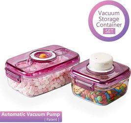 Brand New* Vacuum Food Storage Containers with Lids and Automatic Pump Thumbnail