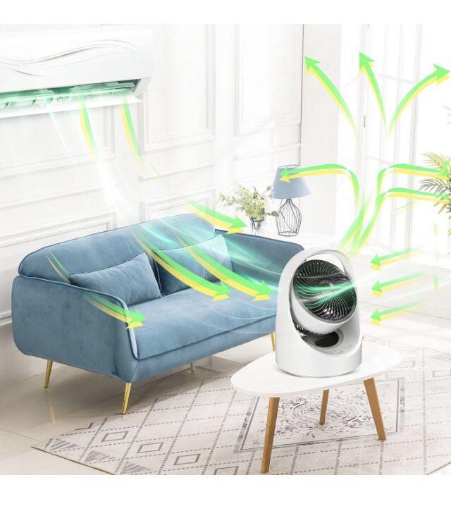 USB Personal Desk fan , Small Quiet Desktop table fan ,4 speeds Rechargeable Oscillating Cordless fan with Led light