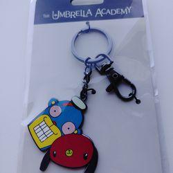 Umbrella Academy Cha Cha & Hazel Keyring Thumbnail