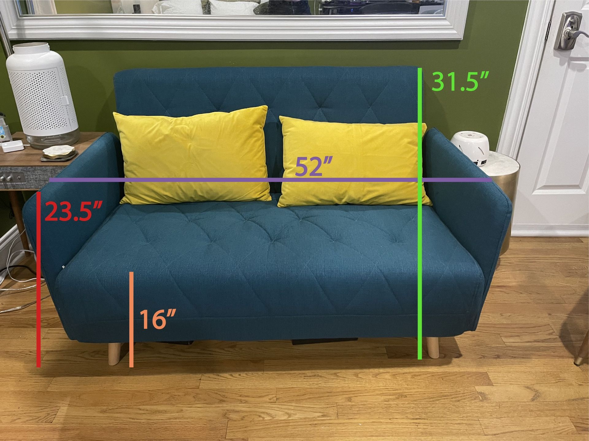 Convertible Love Seat Folds Out To Twin Bed