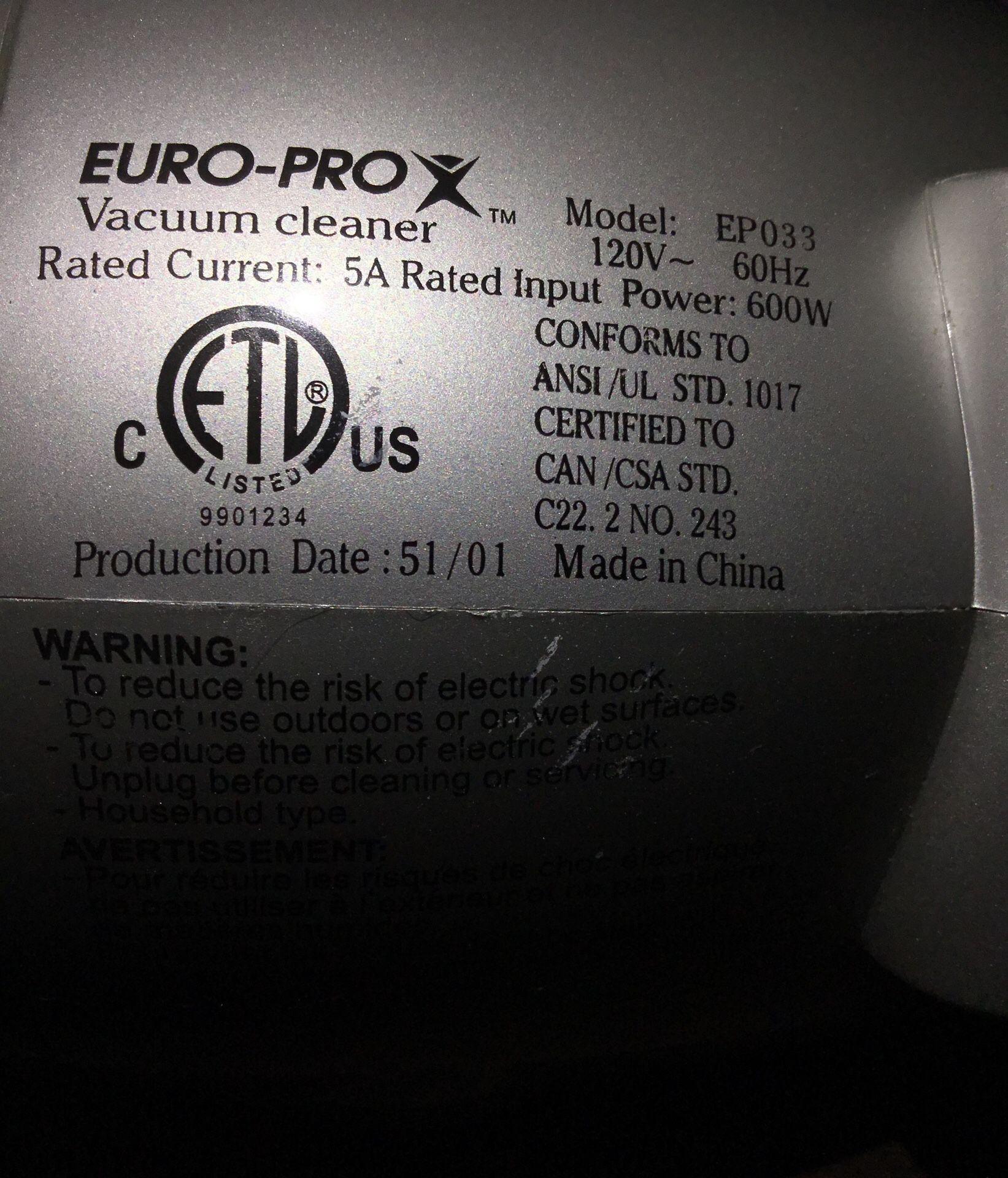 Euro-Pro EP033 Shark Handheld Vacuum with HEPA Filter