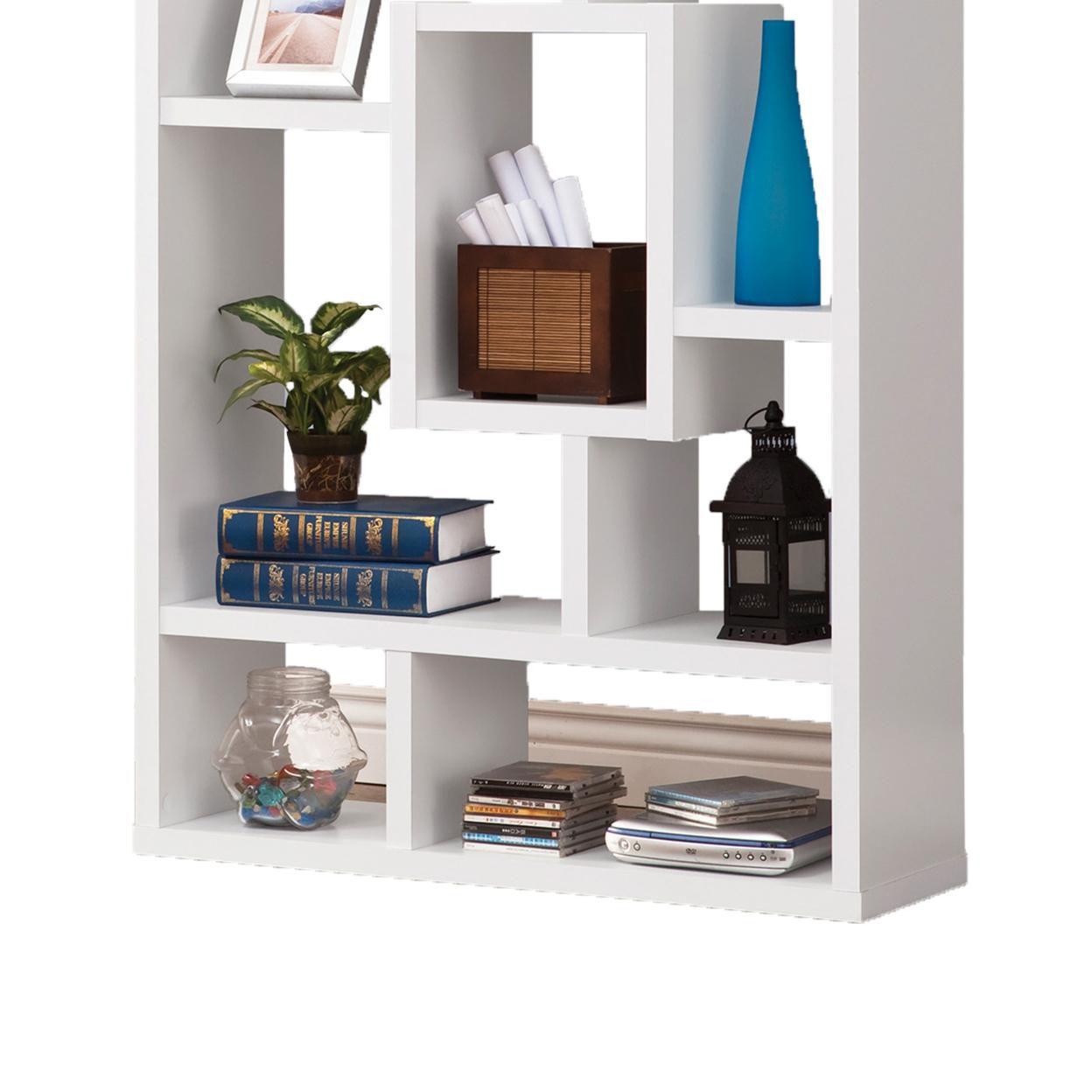Fantastic Geometric Cubed Rectangular bookcase, White