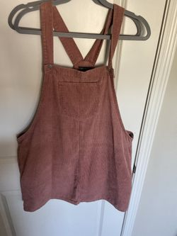 Cute nude pink coteroy overall dress Thumbnail