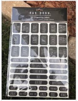 NIB Rae Dunn Household Labels - 3 Packs Thumbnail