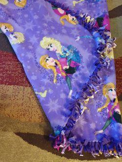 Frozen Double Sided Fleece Blanket Handmade New Thumbnail