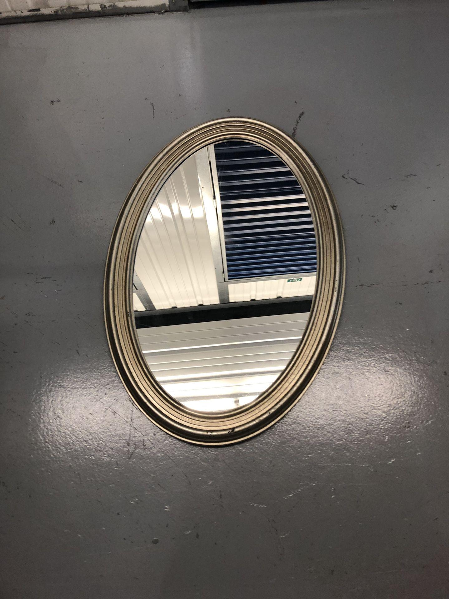 Silver Oval Mirror 21 x 31