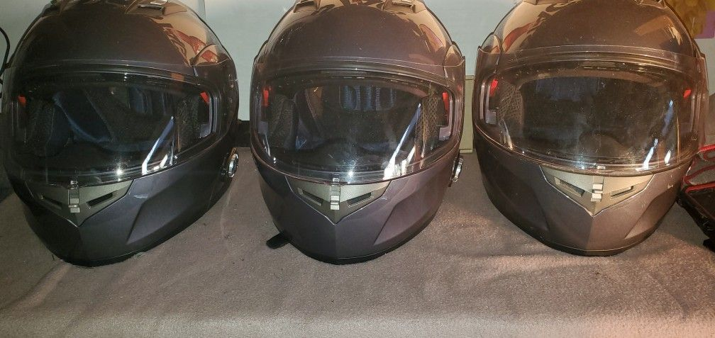 Bluetooth Grey Motorcycle Helmets/Gloves