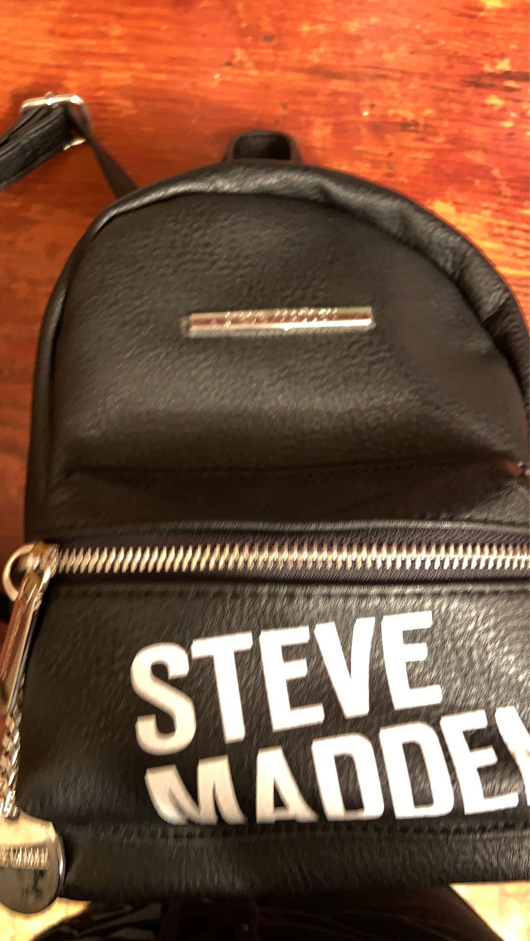Steve Madden Black Bailey Mini Backpack