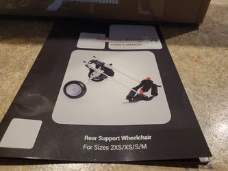 Small Dog Rear Support Wheel Chair  Thumbnail