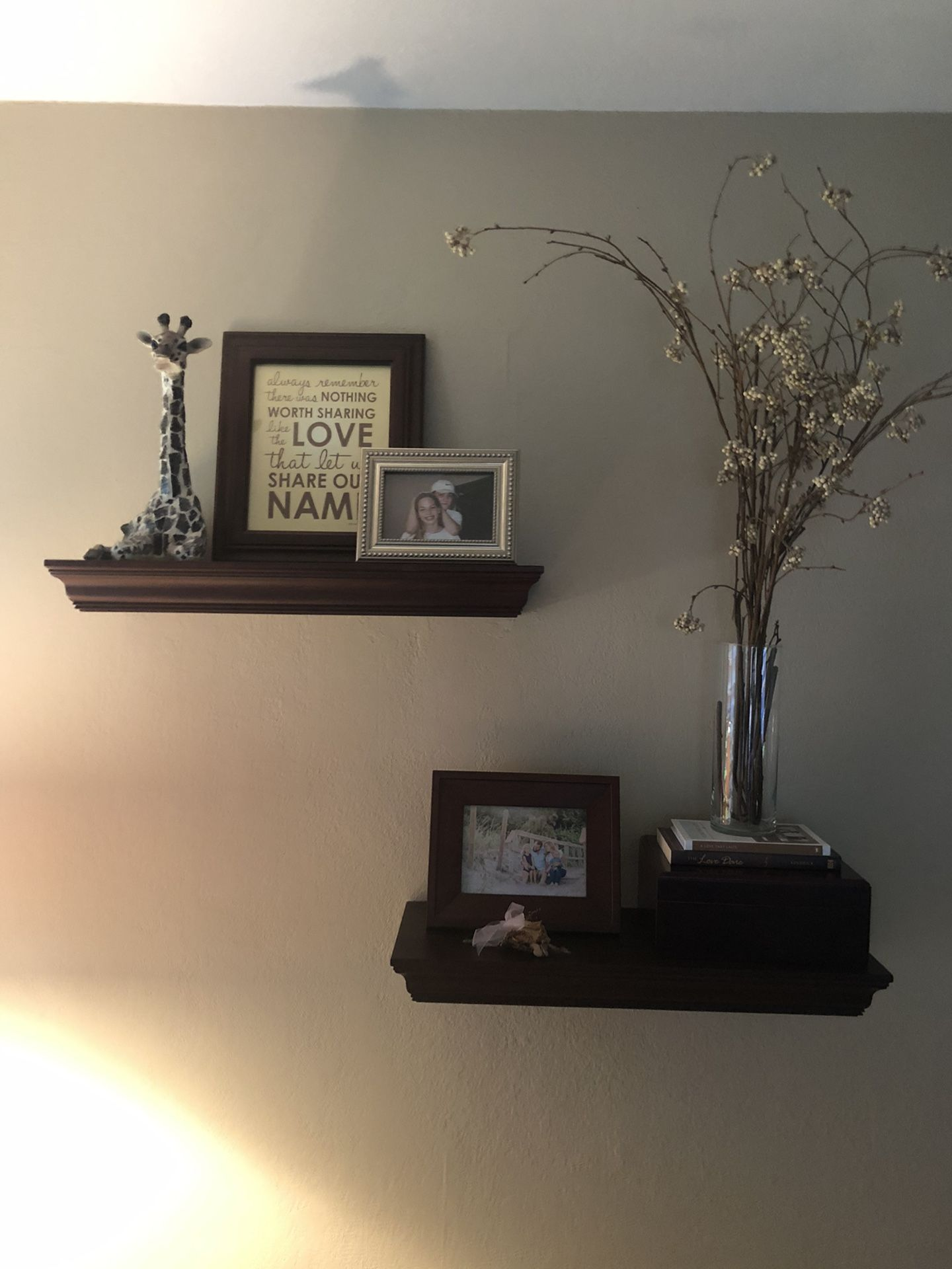 Pottery Barn crown molding floating shelves (set of 3)