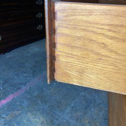 Oak 3 drawer dresser  Thumbnail