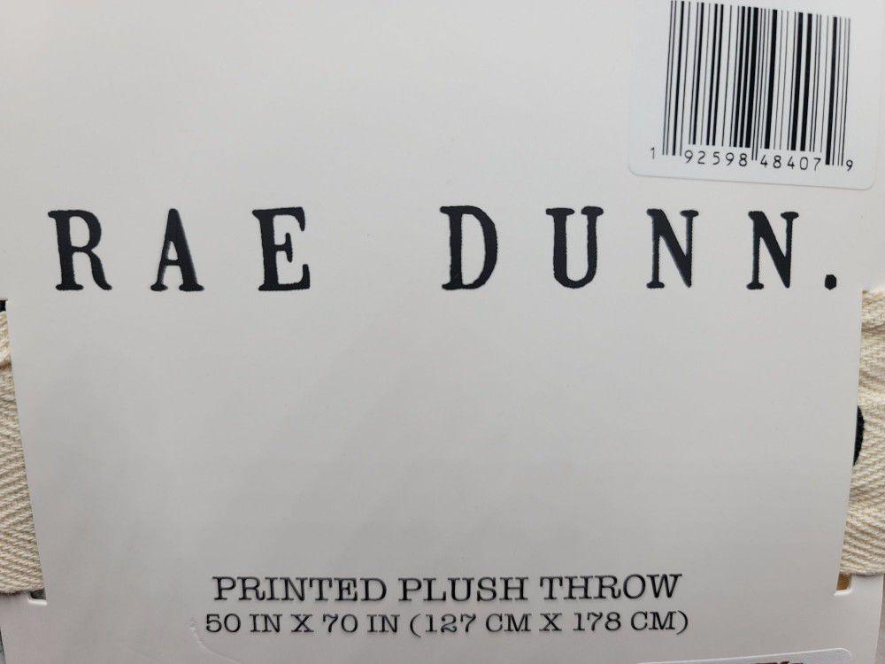 Rae Dunn Throw 50 x 70 Pumpkins Fall Halloween Plush Blanket