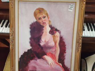 ABSOLUTELY GORGEOUS LOOKING VINTAGE  Hand  PAINTED  oil PAINTING Sign  BY ARTIST  Thumbnail
