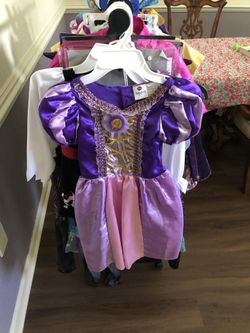 Girls Costume Rapunzel, 4-6x Thumbnail