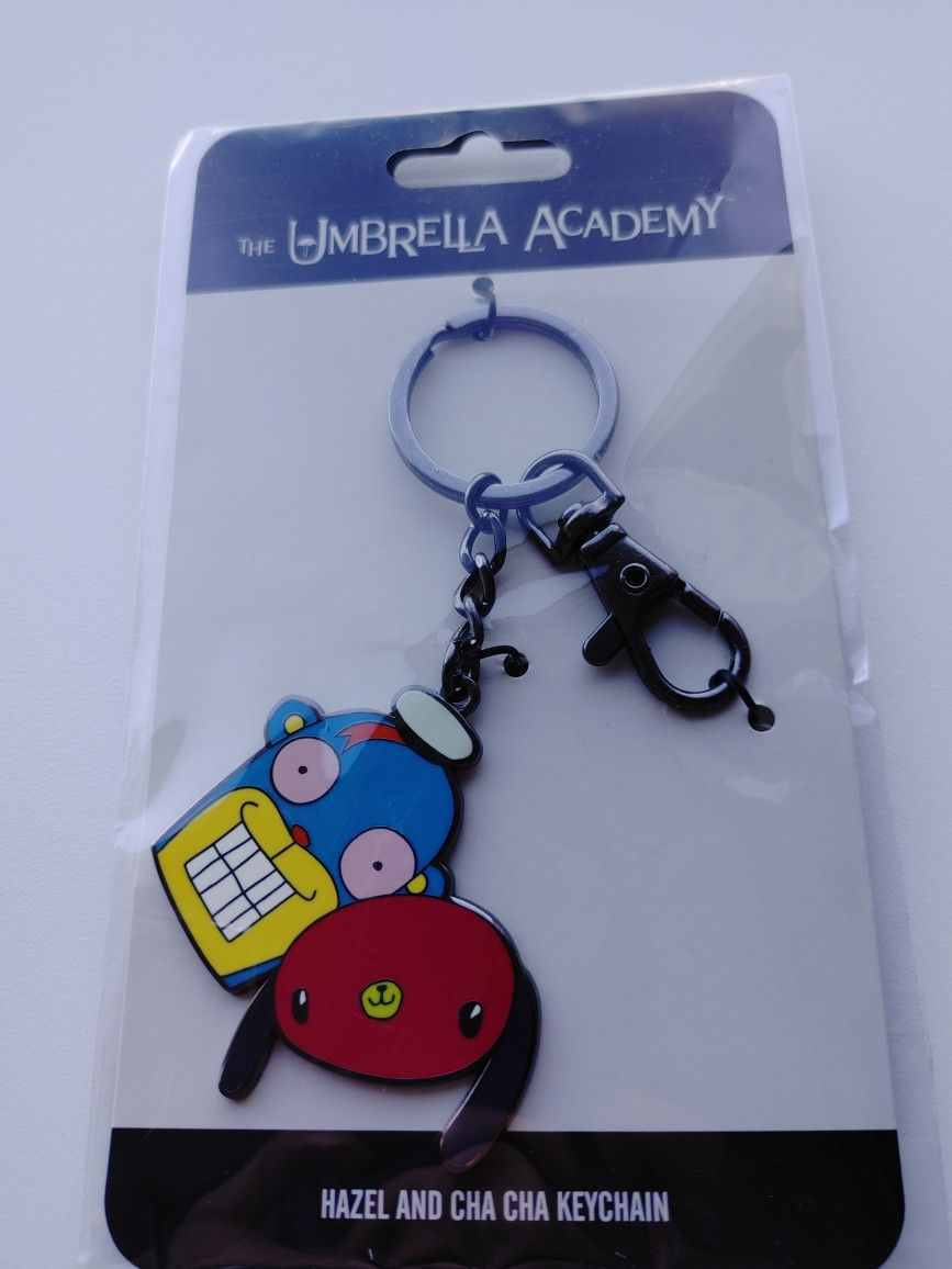 Umbrella Academy Cha Cha & Hazel Keyring