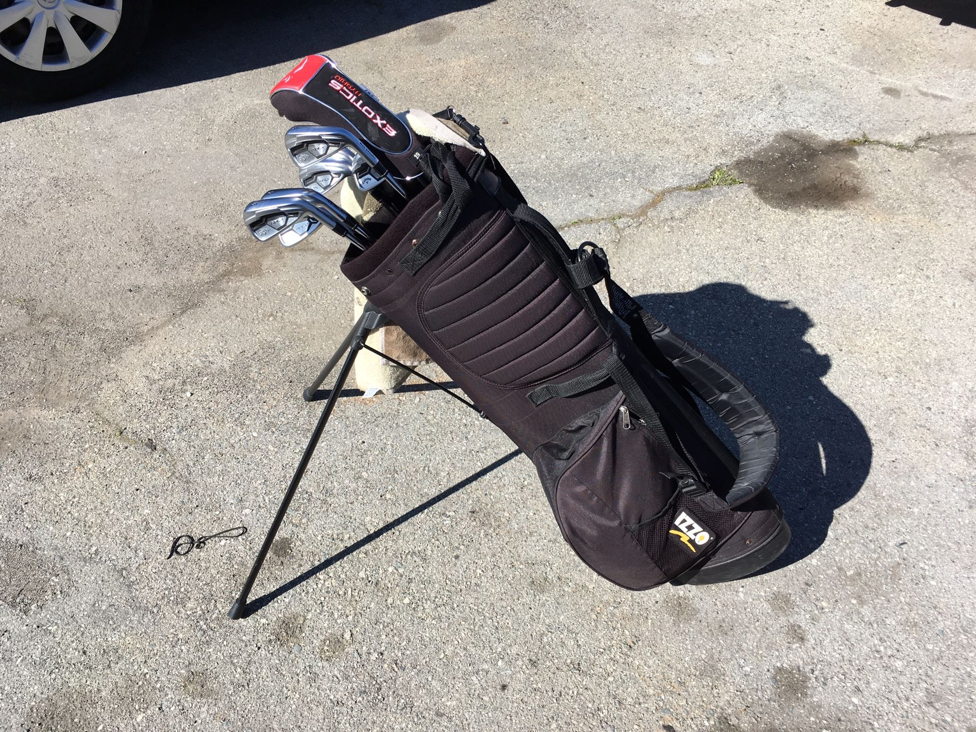 Izzo JUNIOR Golf 'stand-up ' bag ONLINE- good condition