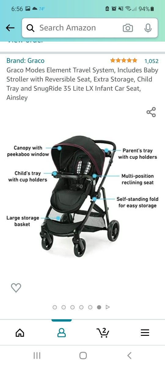 Baby Stroller With Carseat
