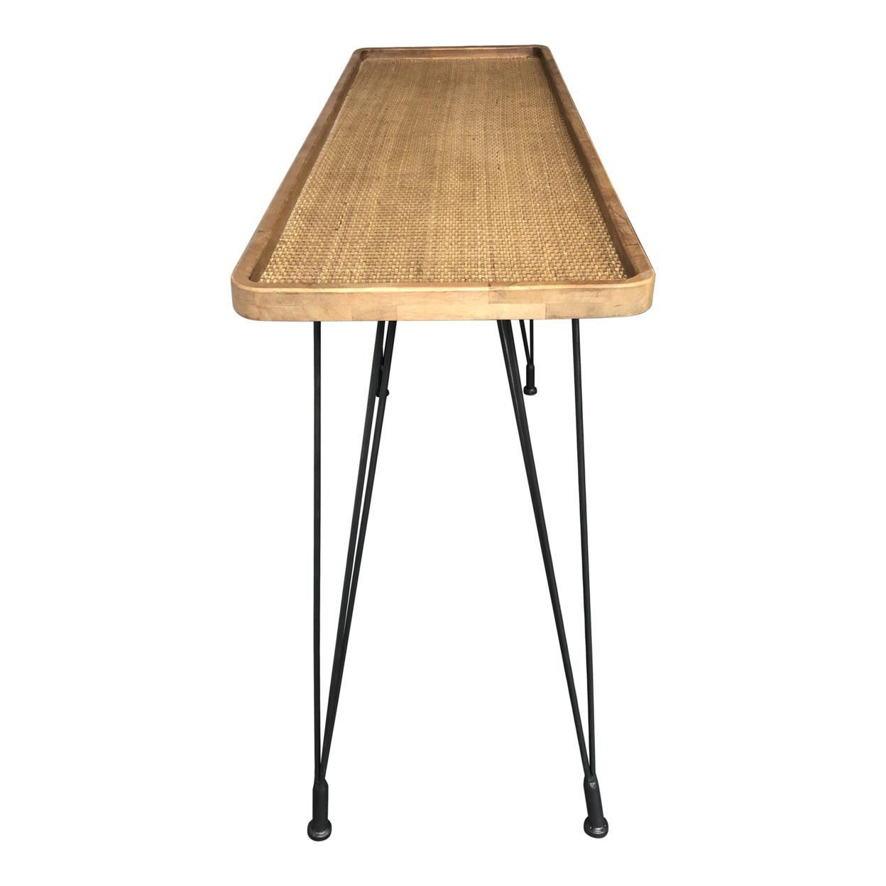 ROLLO RATTAN CONSOLE TABLE