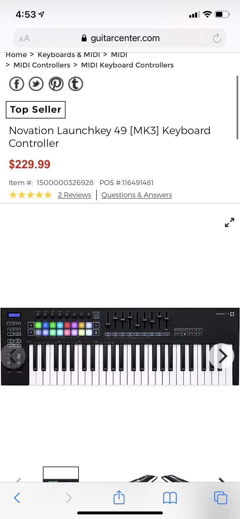 Novation MIDI Keyboard