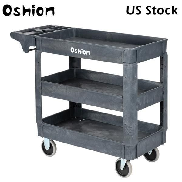 Oshion SC253-S3 Small Three-Layer Plastic Trolley