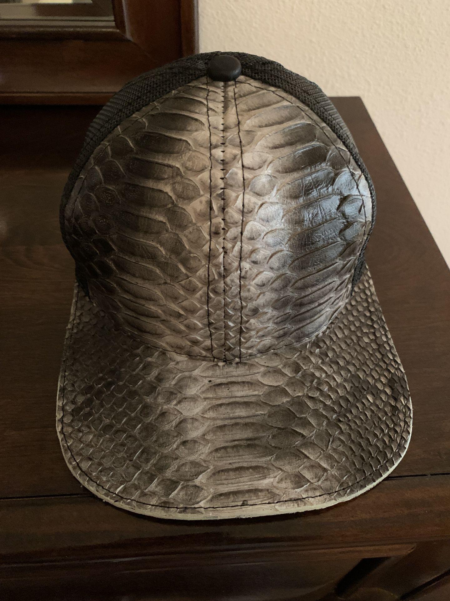 Genuine Python & Fishnet Cap