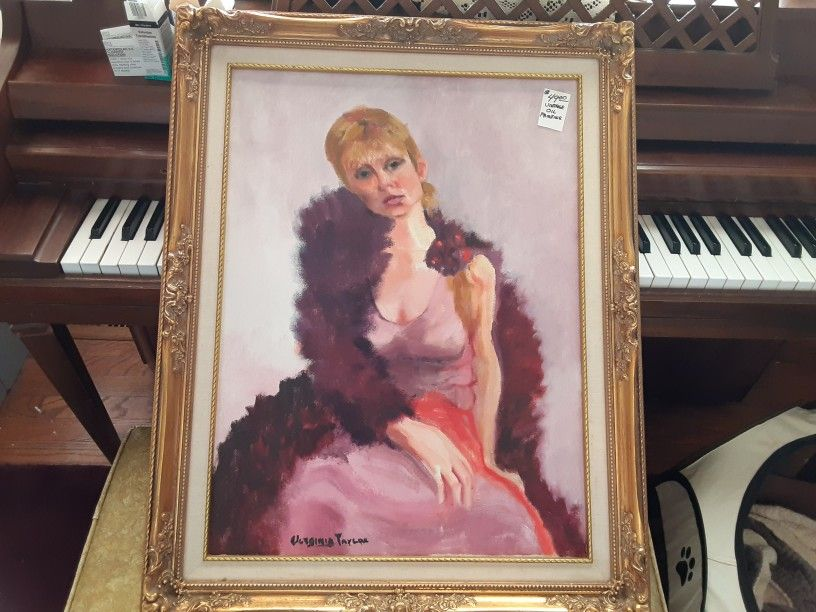 ABSOLUTELY GORGEOUS LOOKING VINTAGE  Hand  PAINTED  oil PAINTING Sign  BY ARTIST
