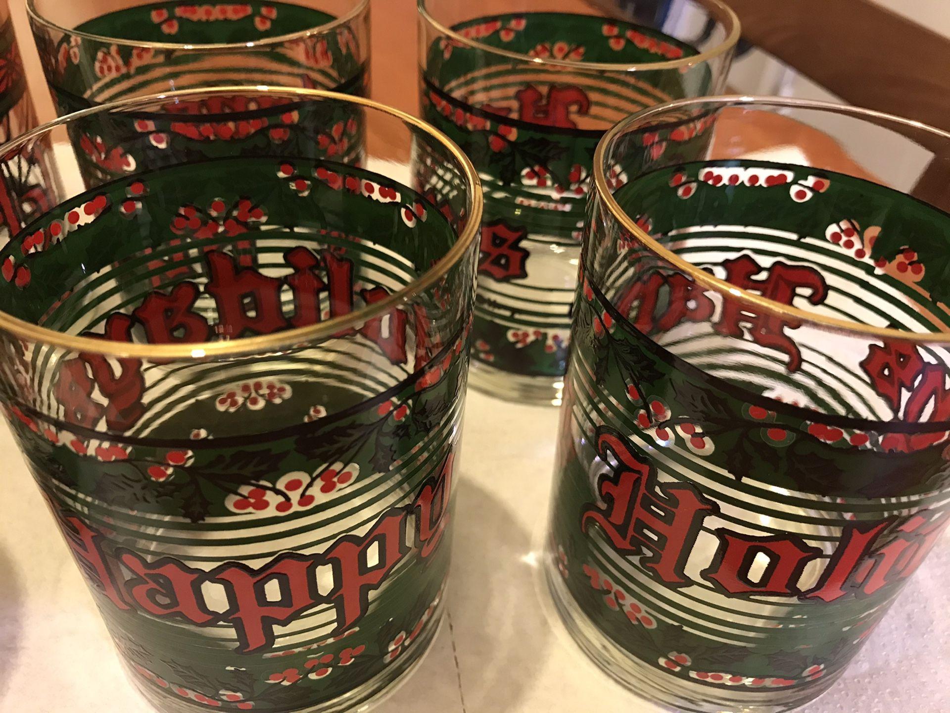 Holiday Glasses - Vintage
