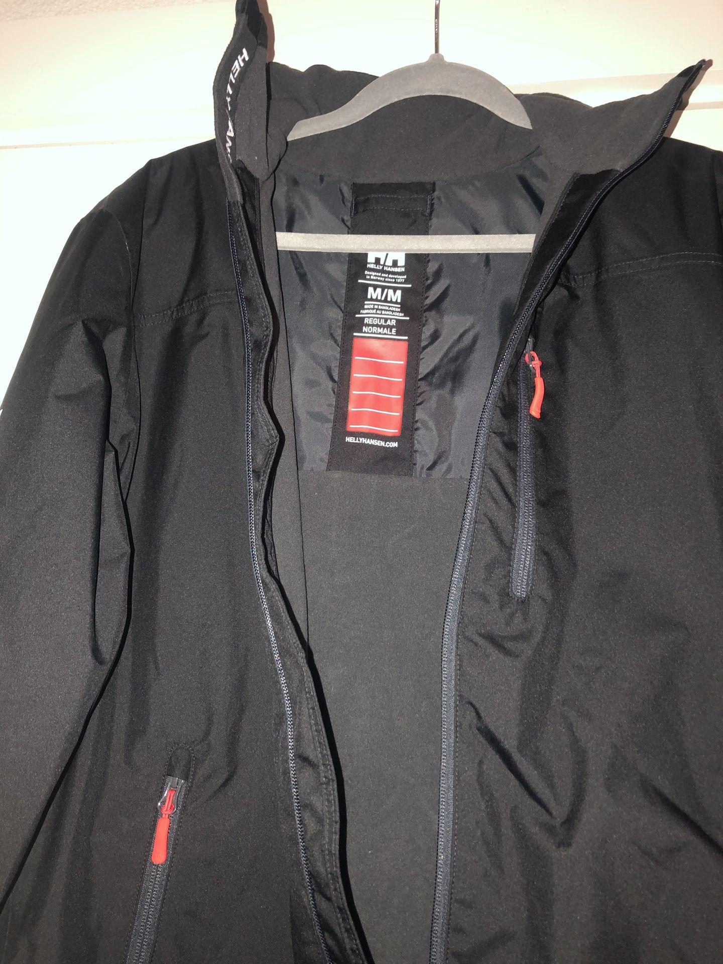 Helly Hansen Crew Mid layer Fleece Lined Waterproof Jacket/ Size M