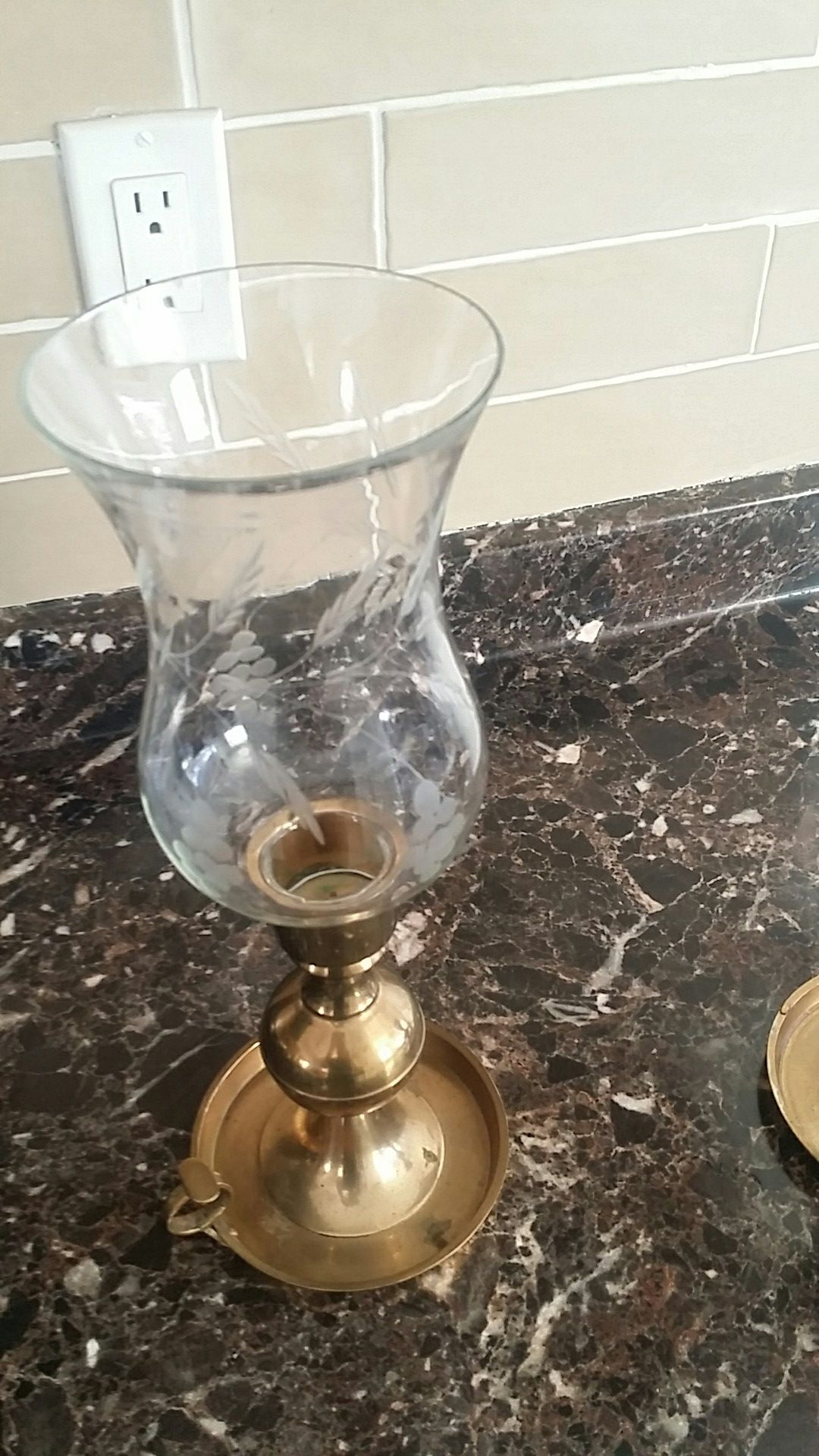 Brass candle stick holder 40.00 for 2 obo