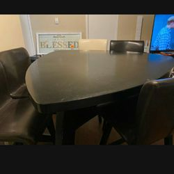 Contemporary Dining Table With Chairs And Bench Thumbnail