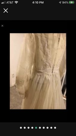 Elegant Wedding Dress And Matching Veil (size 8) Thumbnail