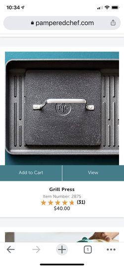 Pampered Chef Grill Pan and Press Thumbnail