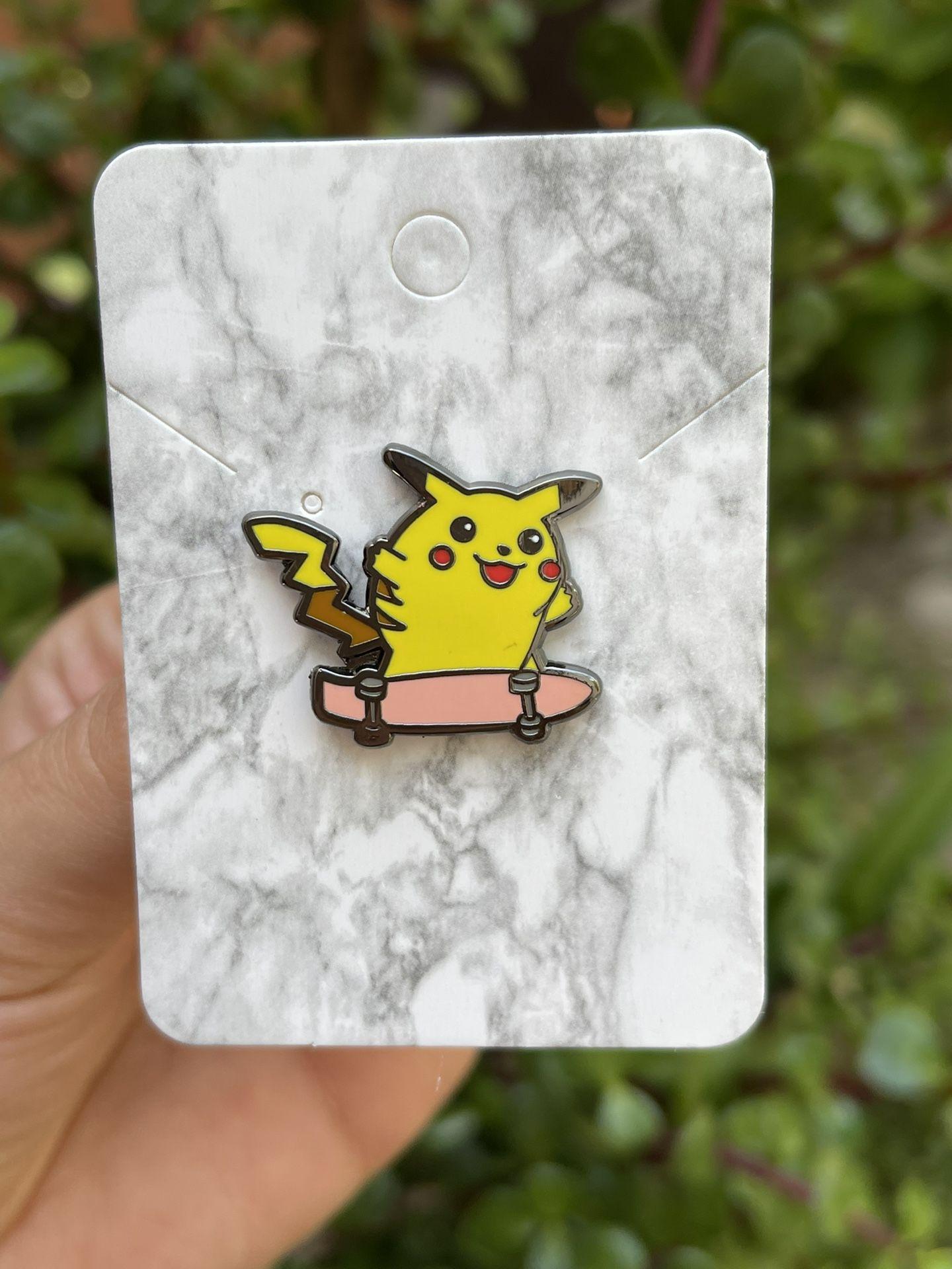 Skateboarding Pikachu Pokemon Pin