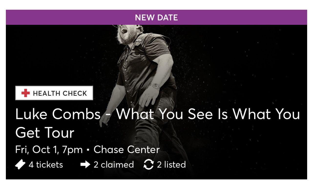 Luke Combs Tickets October 1st
