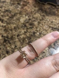Rose gold wedding ring set Thumbnail