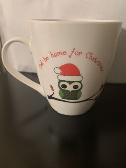 PFALTZGRAFF OWL BE HOME FOR CHRISTMAS MUG! Thumbnail