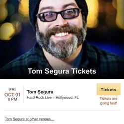 Tom Segur - Two Tickets 10/1/2021 Hard Rock Thumbnail